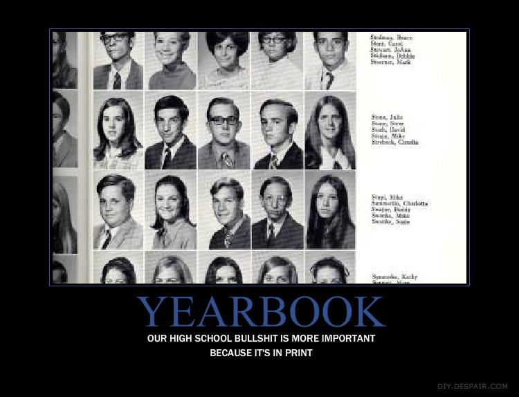 highschool yearbook: