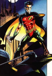 The Neal Adams-drawn poster of Tim Drake as Robin that was featured in Robin #1