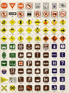 The road sign stickers that you would peel and place inside the Road Sign Games folder.