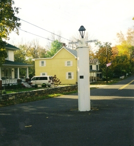 The white post in White Post, Virginia, October 2002.