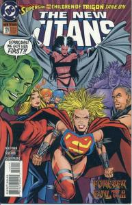 After coming home to Raven in her apartment, Supergirl gears up to fight the Titans in New Titans #120.