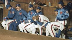 Dwight Gooden holds his head in his hands in the 1988 NLCS.  This just about sums it up.