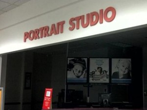 The portrait studio section of an unknown Sears.