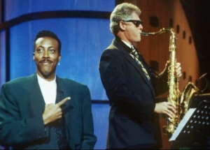 Bill Clinton plays the sax (we're Animaniacs) on The Arsenio Hall Show in 1992, probably the most iconic moment in the show's history.