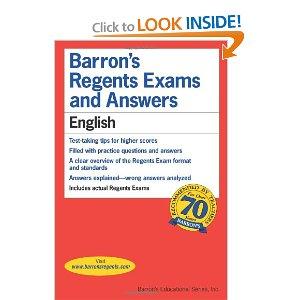 A Barron's Regents review book, courtesy of Amazon.com