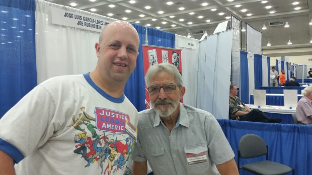 Me with Jose Luis Garcia-Lopez, wearing a T-shirt he drew.