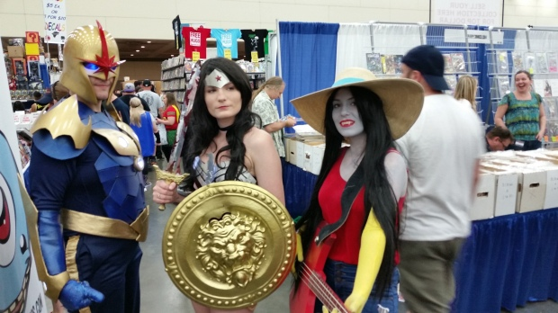 Nova, Wonder Woman, and Marceline