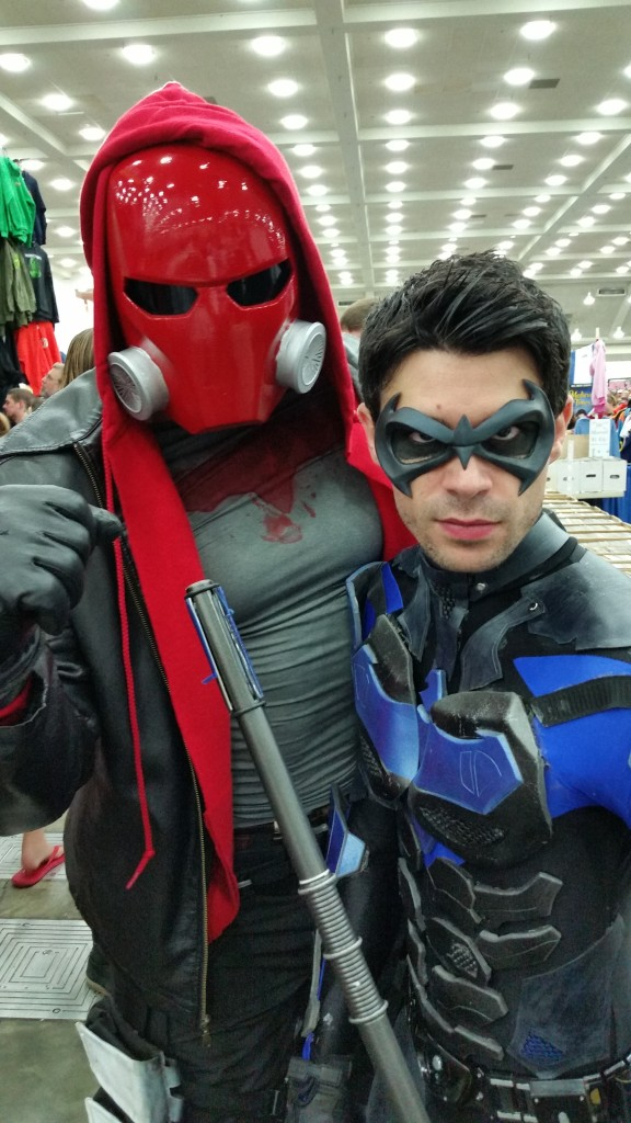 I was impressed by the Nightwing costume.