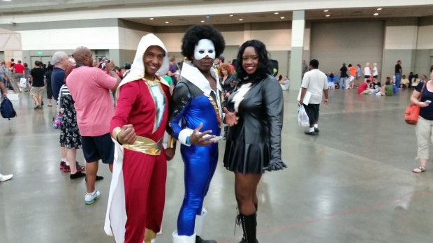 Shazam, Black Lightning, and Mary Marvel.