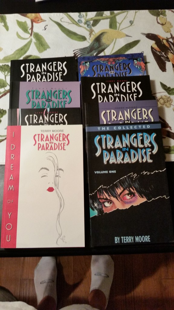 I picked up several Strangers in Paradise trades.