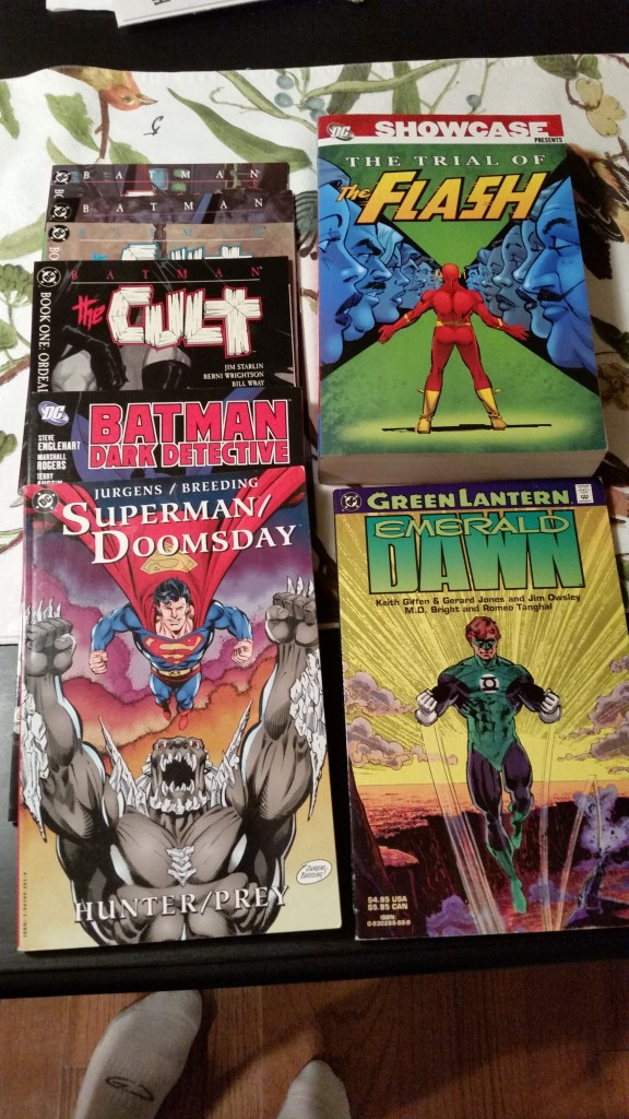 DC Comics trades that I purchased.