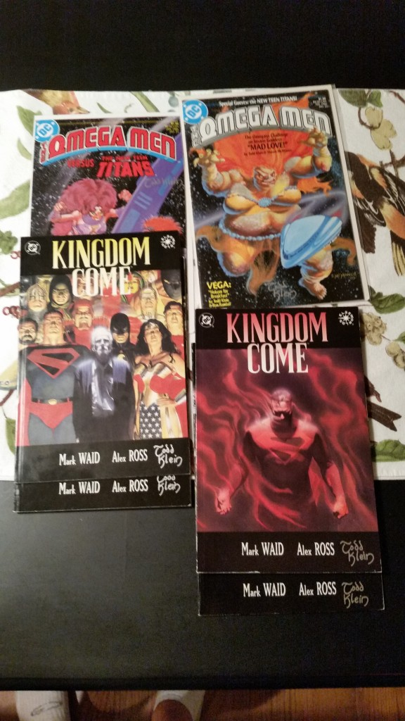 Kingdom Come and Omega Men signed by Todd Klein.