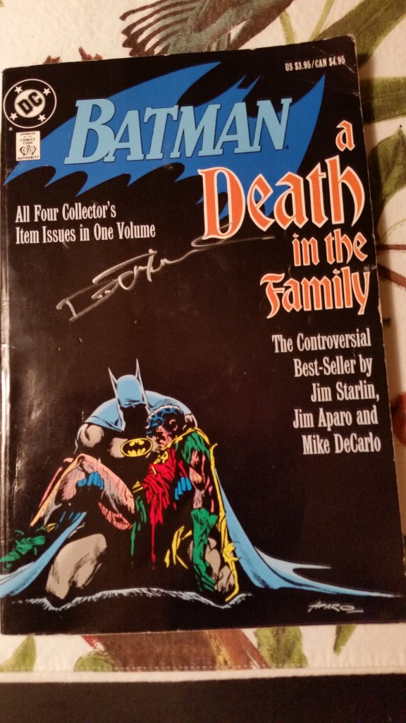 A Death in the Family trade signed by Denny O'Neil.