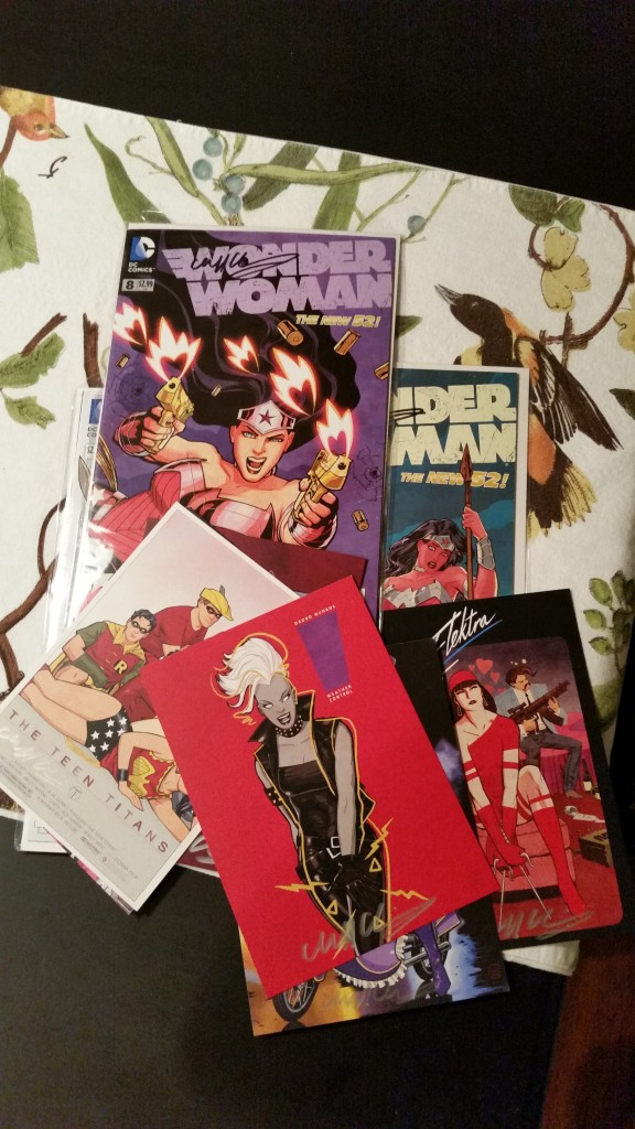 Several things I had signed by Cliff Chiang.