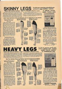 The weird leg-shaping ad from the back of the comic.