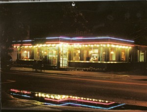 The Sayville Modern Diner circa 1996.  Taken from a 1997 calendar.  Photo by Pat Link.