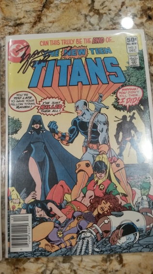 New Teen Titans #2 signed by Marv Wolfman.