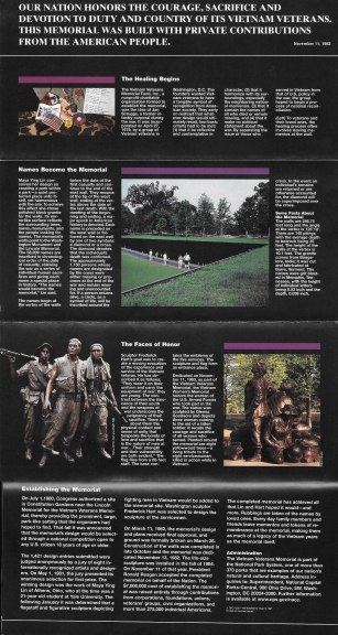 Vietnam Memorial Brochure Back