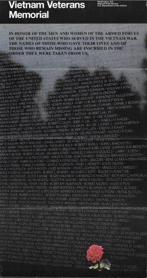 Vietnam Memorial Brochure Front